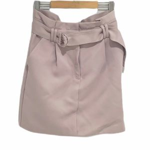 Dynamite | Belted Straight Mini Skirt Lilac